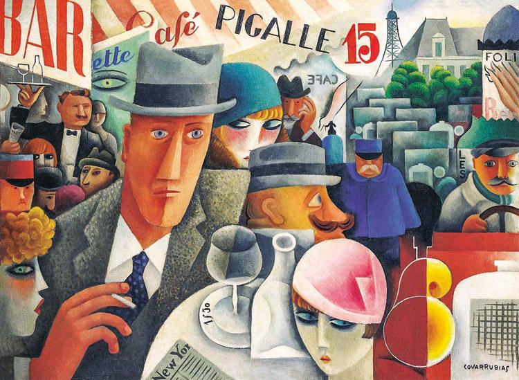 Miguel Covarrubias. George Gershwin, An American in Paris, 1929