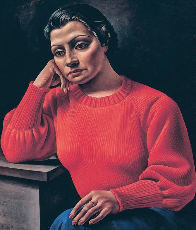 Antonio Berni. La mujer del sweater rojo, 1935